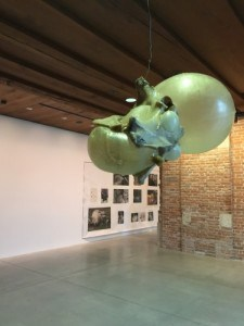 inside of Dogana Venice with exhibition